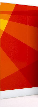 empfohlene Materialien für Firmenschilder: Acrylglas oder Alu-Dibond