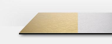 alu dibond butlerfinish gold oder silber g nstig. Black Bedroom Furniture Sets. Home Design Ideas